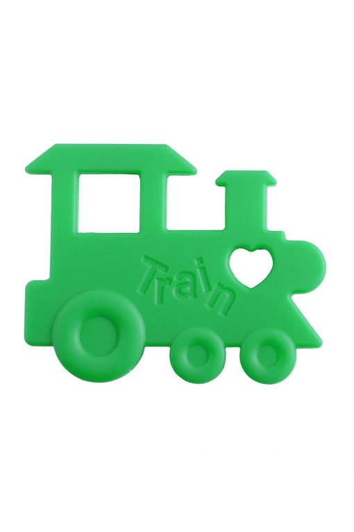 Train Teether in Green