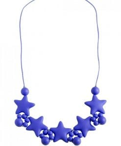 Stellar Teething Necklace Navy Blue