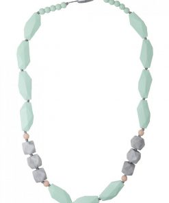 Teething Necklace Brighton Mint and Marble