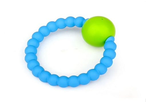 Rattle Ring Blue and Lime