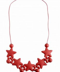 Stellar Red Teething Necklace