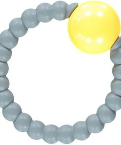 Grey and Yellow Rattle Ring Teething Toy