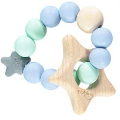 Star Natural Blue and Mint Teething Toy