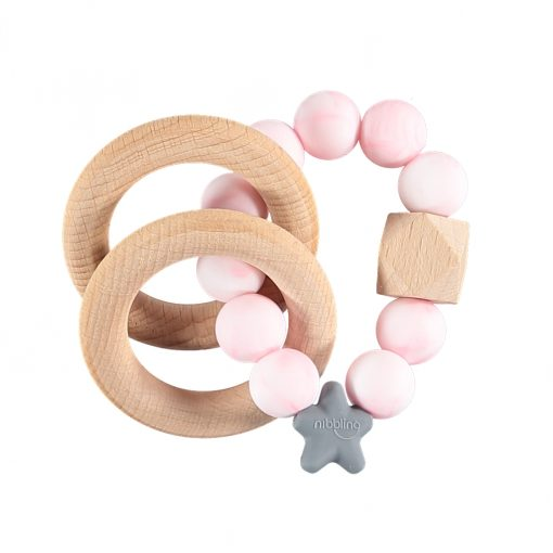 Pink Marble Rattle