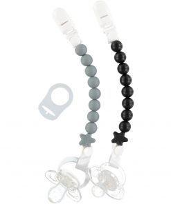 Pluto Dummy Clip Twin Pack Monochrome