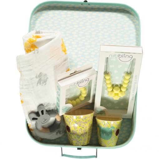 Mother and Baby Lux Gift Box Yellow Elephant