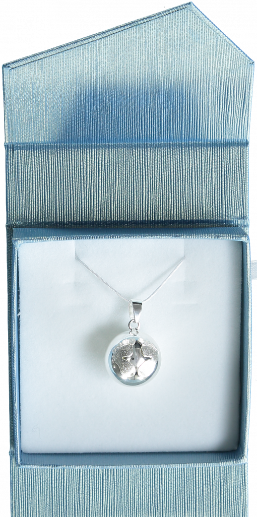 NN252 Silver Bola with pewter footprints on chain