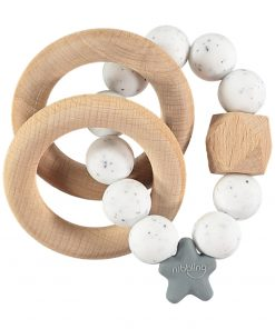 Speckled Teething Rattle